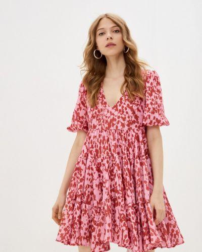 Прямое розовое платье А-силуэта Imperial