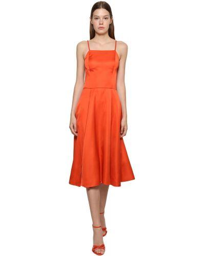 Приталенное платье миди - красное Ralph Lauren Collection