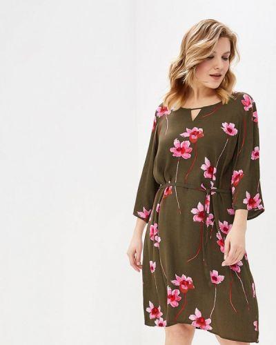 Повседневное платье весеннее хаки Junarose
