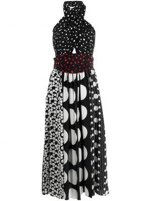 Платье в горошек - черное Dolce & Gabbana