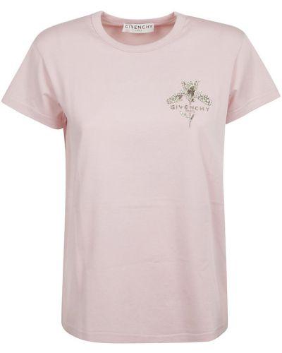 T-shirt bawełniana - różowa Givenchy