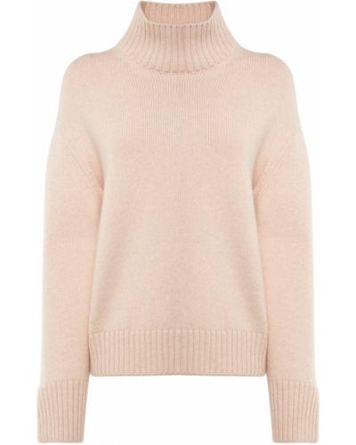 Розовый кашемировый свитер с воротником Loro Piana