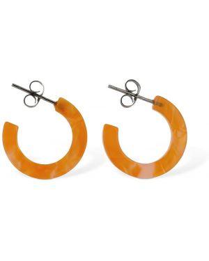 Pomarańczowe kolczyki sztyfty srebrne Aym