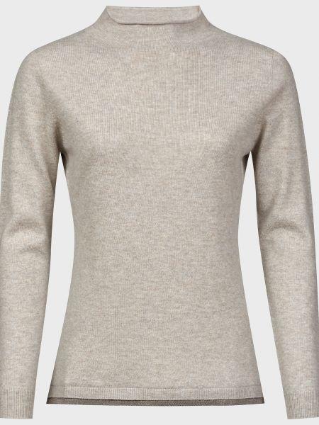 Серый шерстяной свитер с бисером Fabiana Filippi