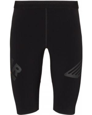 Приталенные черные короткие шорты Soar
