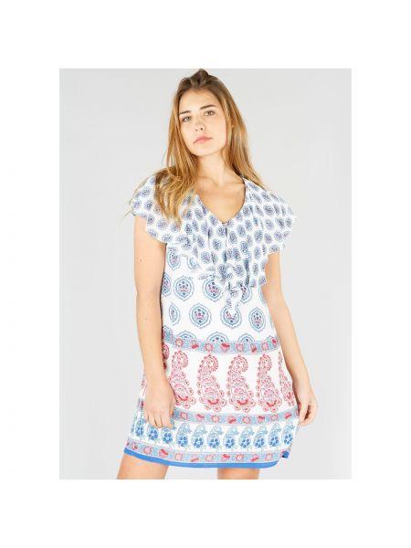 Платье миди мини с V-образным вырезом Rene Derhy