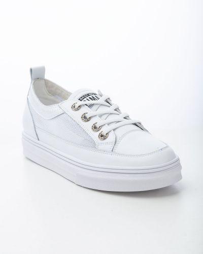 Кожаные белые ботинки Prima D'arte