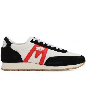 Czarne sneakersy skorzane sznurowane Karhu