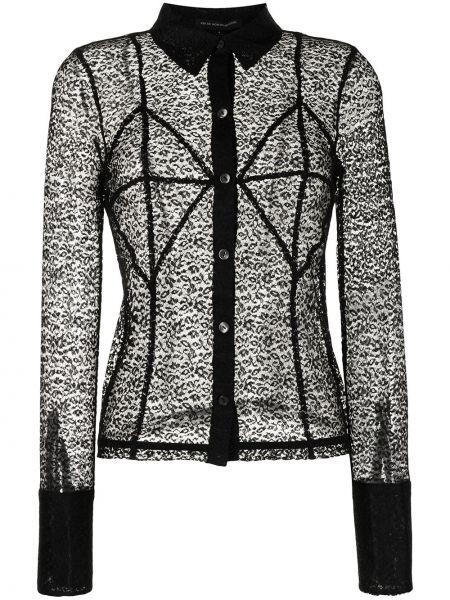 Черная блузка с воротником с вышивкой Kiki De Montparnasse