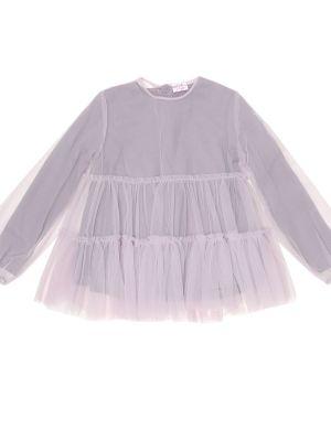 Теплый фиолетовый кожаный топ Il Gufo