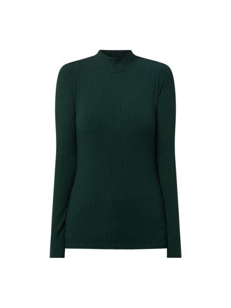 Zielona bluzka z długimi rękawami z wiskozy Edited