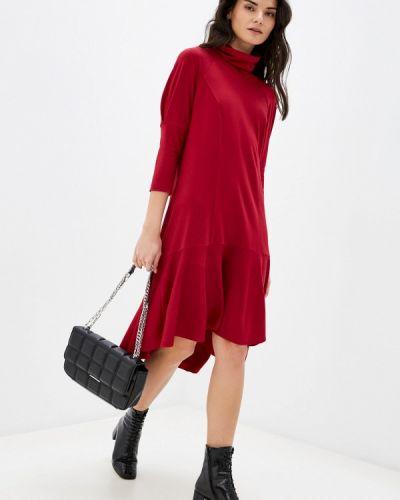 Прямое красное платье Adzhedo