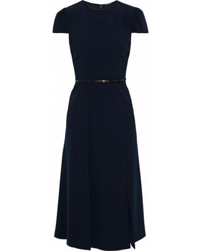 Niebieska sukienka skórzana Elie Tahari