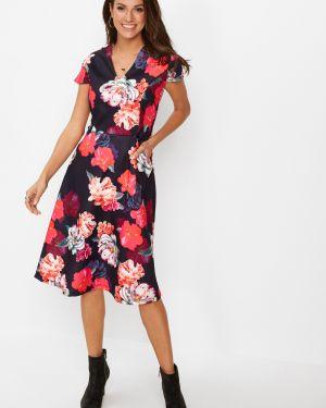 Облегающее платье с V-образным вырезом стрейч Bonprix