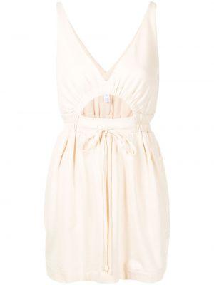 Прямое белое платье мини с поясом Alice Mccall