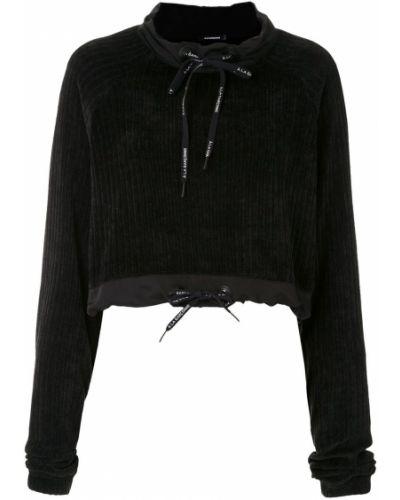 С рукавами черный джемпер свободного кроя À La Garçonne