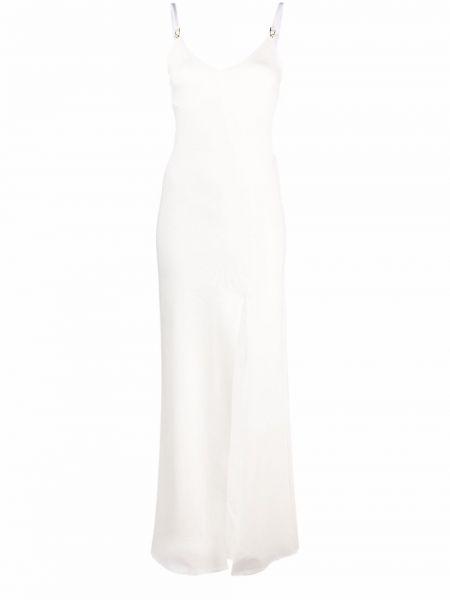 Biała sukienka z dekoltem w serek Murmur