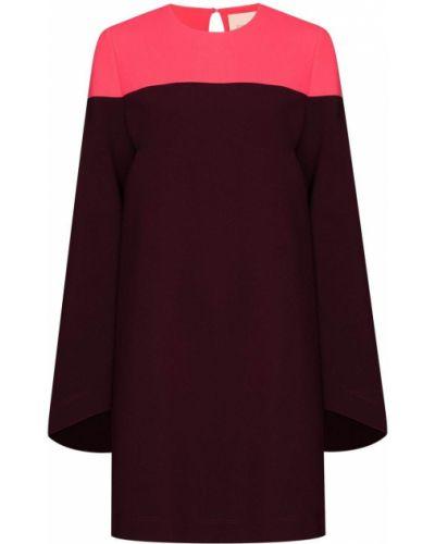 Платье мини с вырезом - фиолетовое Roksanda
