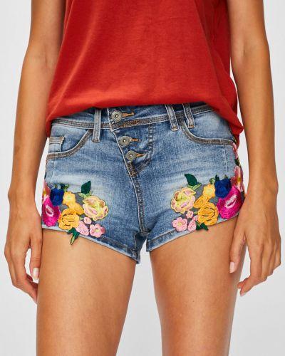 Джинсовые шорты с вышивкой с карманами Rock Angel