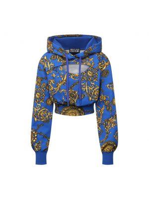 Хлопковое худи - синее Versace Jeans Couture