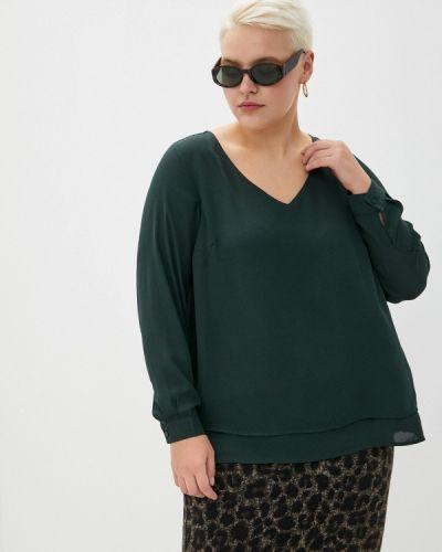 Зеленая блузка с длинным рукавом с длинными рукавами Zizzi