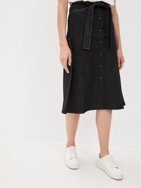 Черная джинсовая юбка Be Main