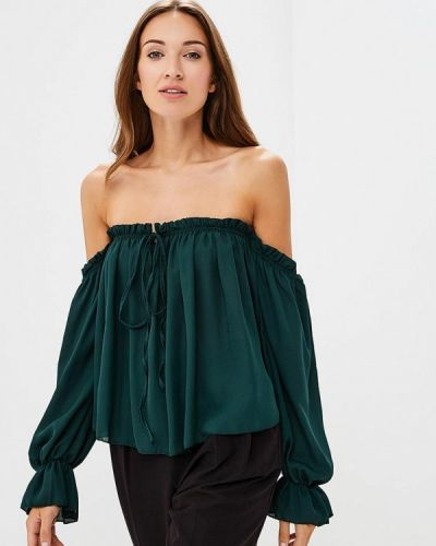 Блузка с открытыми плечами зеленый Madison Harmonie