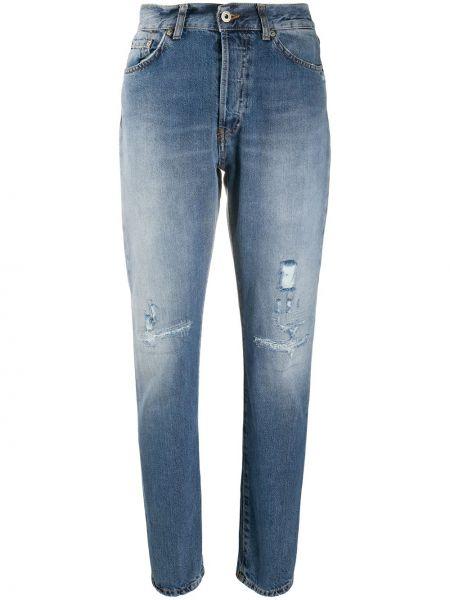 Синие зауженные джинсы-скинни на молнии Dondup