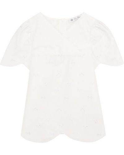Блузка с V-образным вырезом с вышивкой Loro Piana