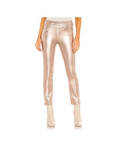 Прямые джинсы с карманами на молнии Mother