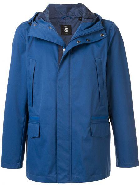 Niebieska kurtka z kapturem z nylonu Kent & Curwen