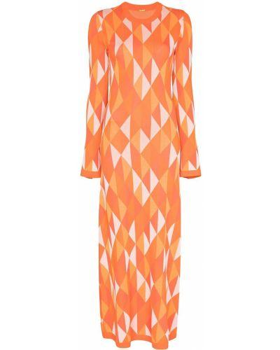 Прямое платье макси с длинными рукавами с открытой спиной Dodo Bar Or