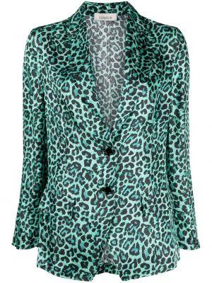 Зеленый классический пиджак с карманами с отворотом Laneus