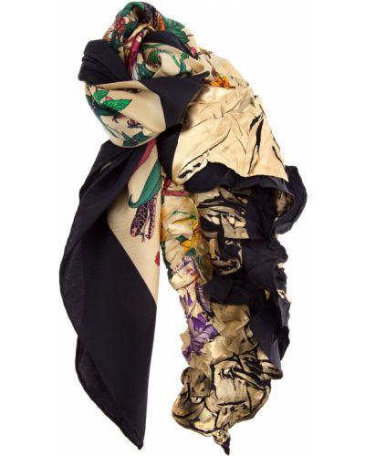 Шарф с цветочным принтом итальянский Gucci