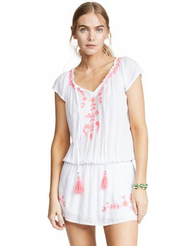 Платье с вышивкой - белое Tiare Hawaii