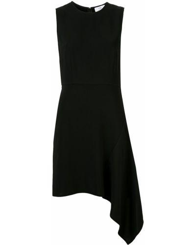 Платье с оборками - черное Ck Calvin Klein