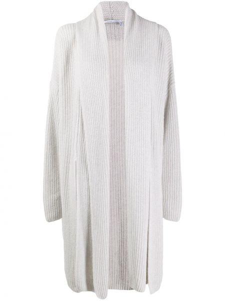 Свободное белое кашемировое пальто Agnona