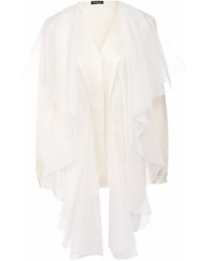 Блузка из органзы шелковая Kiton