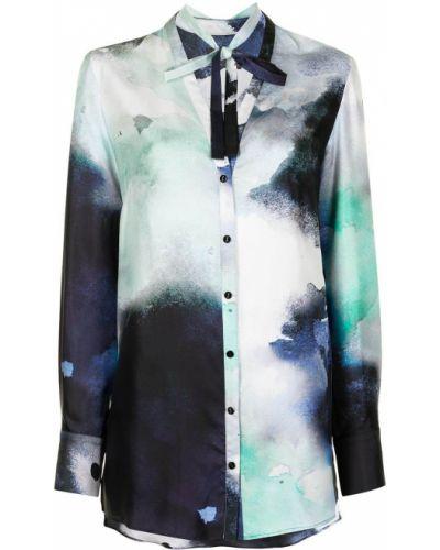 Шелковая блузка с вырезом на пуговицах Ginger & Smart