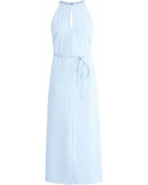 Вечернее платье с американской проймой с поясом Alexander Terekhov