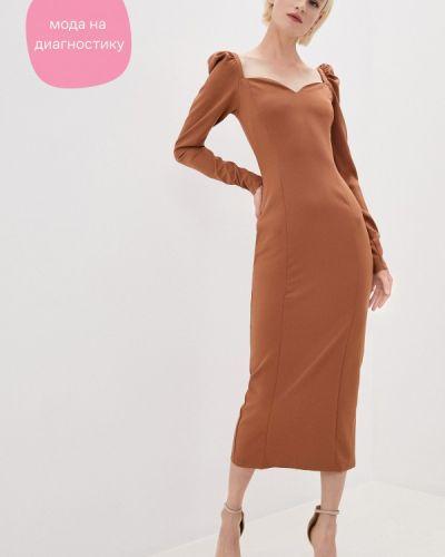 Брендовое коричневое вечернее платье Lipinskaya Brand