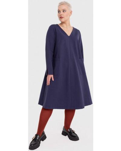 Повседневное платье - синее W&b
