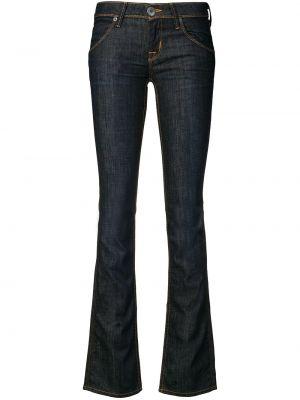 Синие джинсы с низкой посадкой на пуговицах с поясом Hudson
