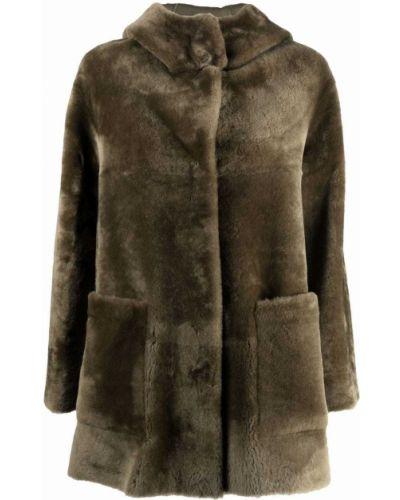 Зеленое длинное пальто Blancha