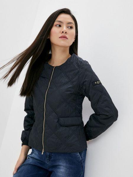 Теплая черная утепленная куртка Tatras