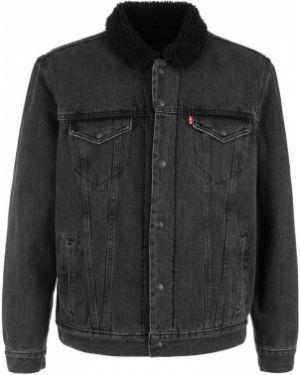 Утепленная куртка черная джинсовая Levi's®