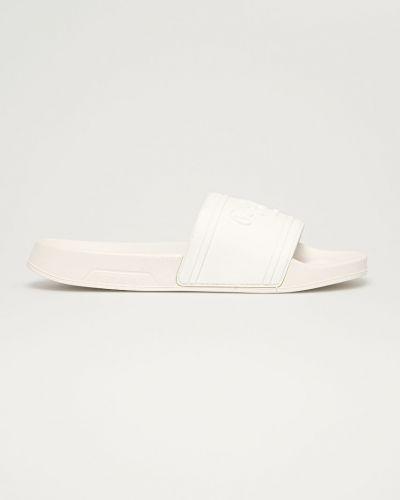 Białe sandały na obcasie Pepe Jeans