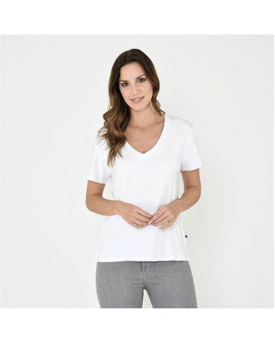 Biała koszulka bawełniana Firetrap