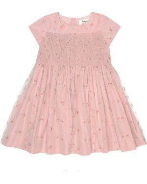 Розовое платье из фатина Bonpoint