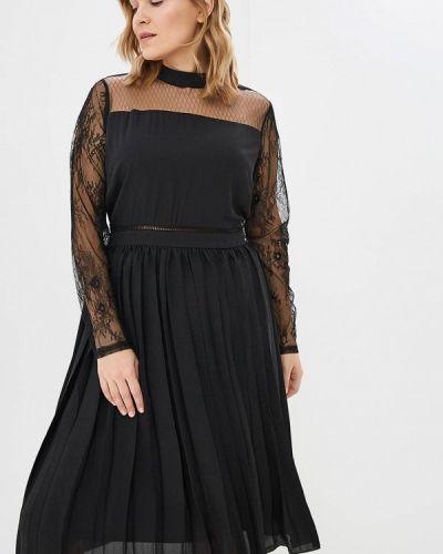 Вечернее платье осеннее черное Lost Ink Plus